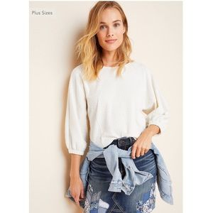 Anthropologie Arya Textured Top Small